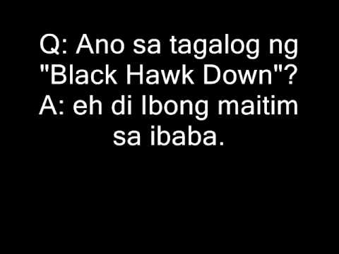 Pinoy Q A Jokes English Movie In Tagalog Jokes D