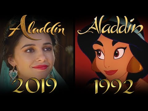 ALADDIN (2019 vs 1992) Official Trailer Comparison SHOT BY SHOT