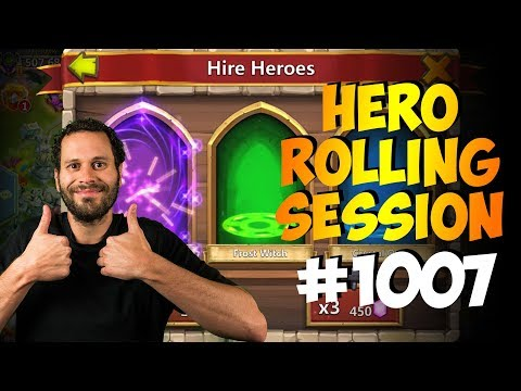 Rolling 34K Gems... PAINFUL! Hero Collector Castle Clash