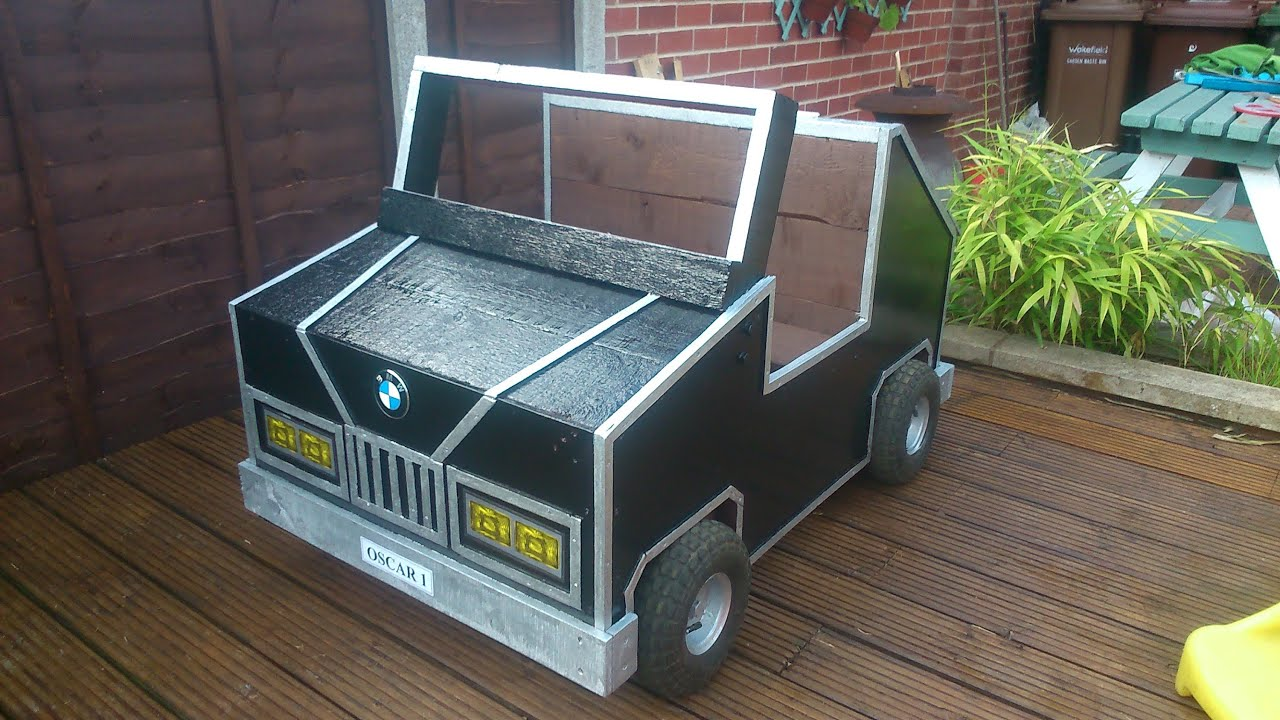 How To Build Your Own Children's Garden Car Storage Box Out Of Pallets ...