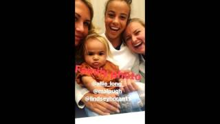 "USWNT - ""Babysitting Cassius Leroux Dwyer"" (Allie Long SheBelieves Cup Instagram Takeover) - 3-2-17"