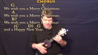 We Wish You a Merry Christmas - Ukulele Lesson in G with Chords/Lyrics