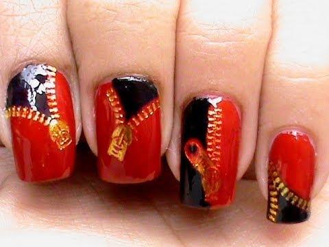 zipper nails punk nail art decals