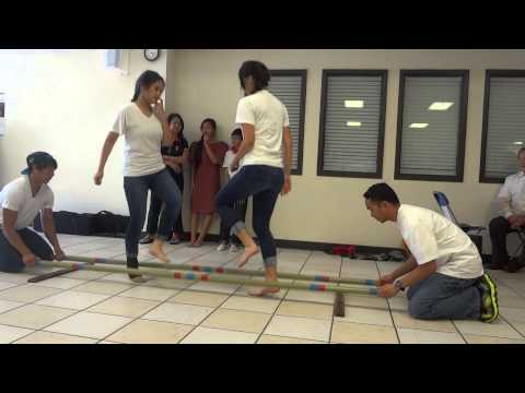 Tinikling with Cherilyn and Denica at Immaculate Conception of Mary, Wichita Falls, TX