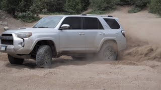 Spider Lake Trails in the Toyota 4Runner, things get a little sketchy!!