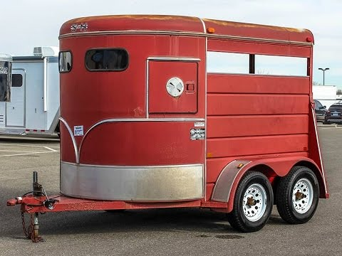 1995 S & H 2-HORSE BUMPER PULL TRAILER - Transwest Truck Trailer RV (Stock #: 5U160824)