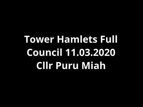 Cllr Puru Miah - Towards a More Inclusive Climate Change Action - Full Council - 11th March 2020
