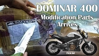 DOMINAR 400 MODIFICATION PARTS ARRIVED | DOMINAR 400 MODIFICATION  | FIRST LOT |