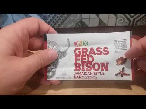 DNX Grass-fed Bison with Jamaican Spices Whole Food Protein Bar