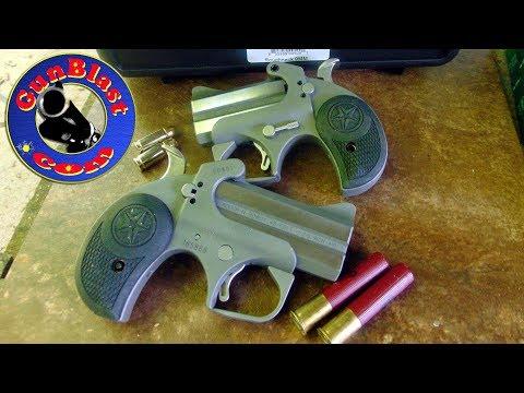 "Shooting Bond Arms' NEW ""Roughneck"" and ""Rowdy"" 2-Shot Derringer Pistols - Gunblast.com"