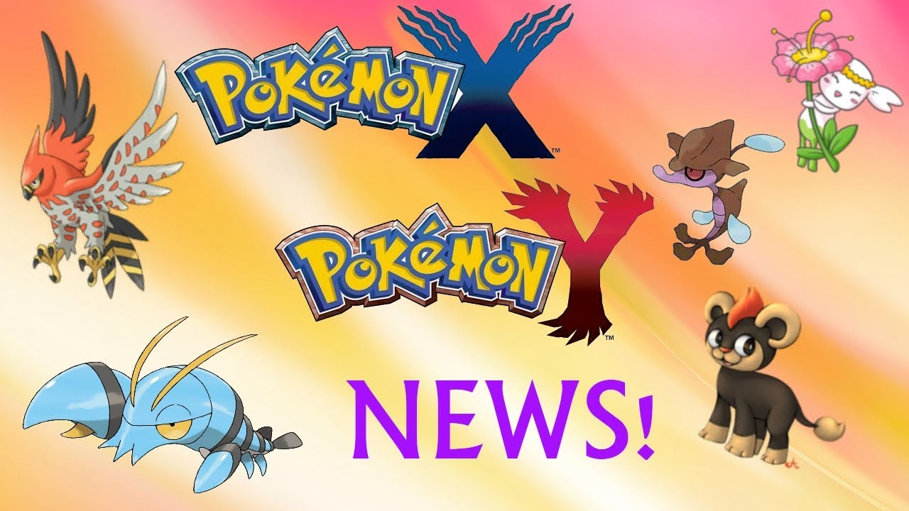 tons of new pokemon x and y news new pokemon character