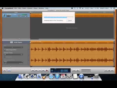 How to slow down a song in Garageband 11'