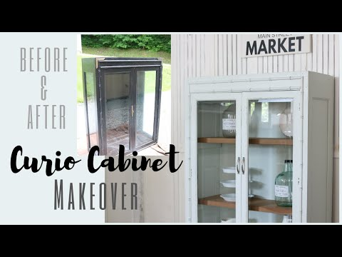 Curio Cabinet Makeover ~ Cabinet Transformation ~ Before and After Furniture Makeover