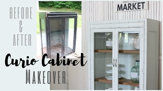 Curio Cabinet Makeover Cabinet Transformation Before And After Furniture Makeover Youtube