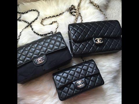 香奈儿开箱 Chanel Classic Flap Mini Unboxing Black Lambskin GHW