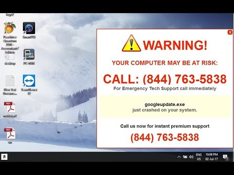"How to Manually Remove Adware ""WARNING! Your Computer May Be at Risk Call : (844) """