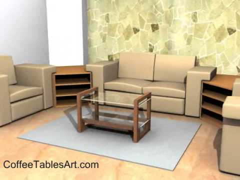 small rectangular coffee table with storage - youtube