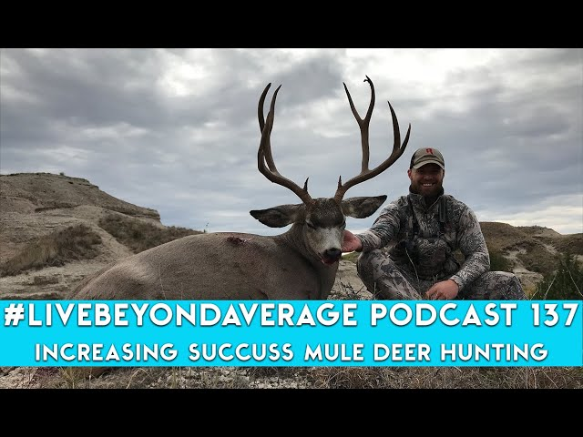#LiveBeyondAverage Podcast 137 || HOW TO INCREASE SUCCESS MULE DEER HUNTING