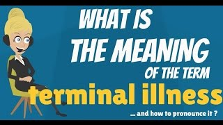 What is TERMINAL ILLNESS? What does TERMINAL ILLNESS mean? TERMINAL ILLNESS explanation