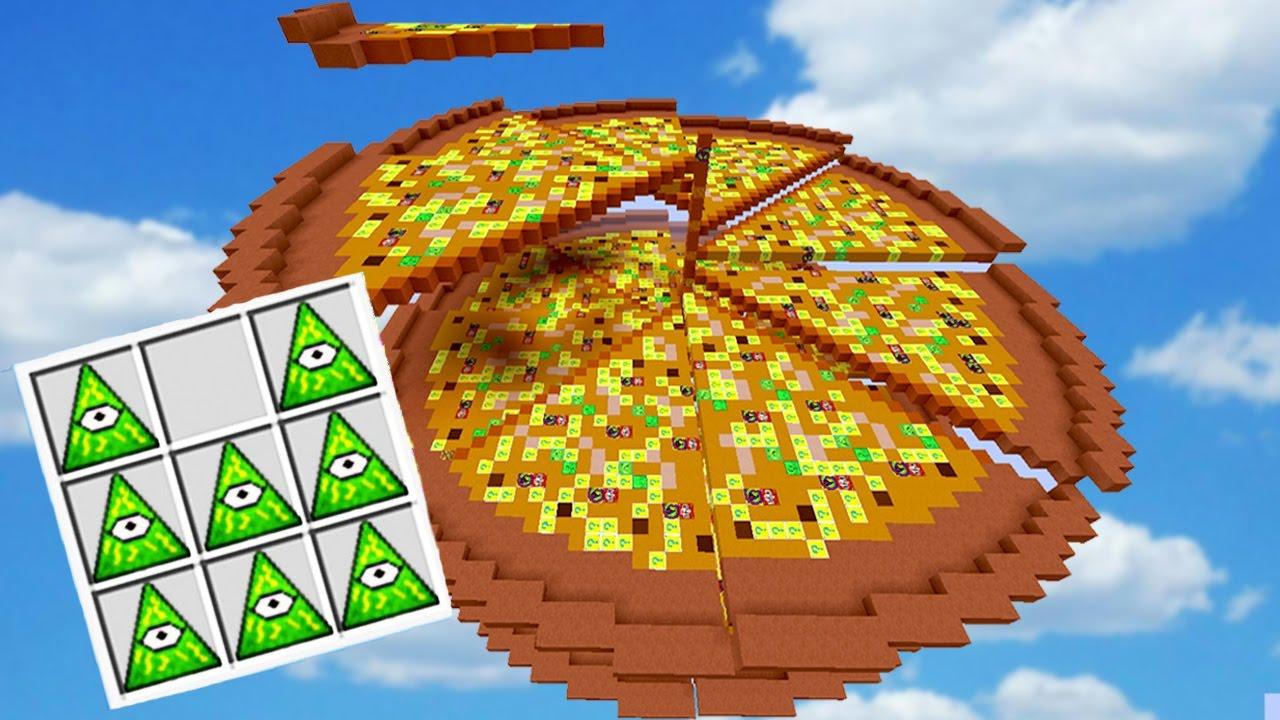 Pizza Gigante Batalha De Lucky Block Minecraft Youtube