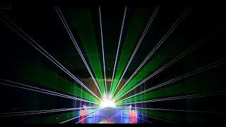 Лучевое лазерное шоу на концерте театра танца Авиаль 22 05 2018