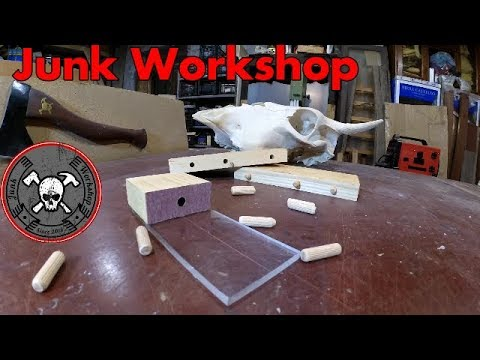 diy cheap easy wood doweling jig dima per spine in legno