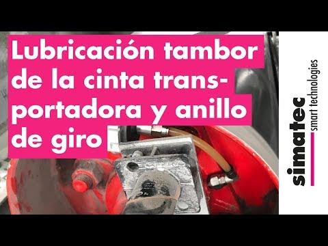 Lubricación Del Tambor De La Cinta Transportadora Y Anillo De Giro