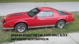 1984 Chevy Camaro Z28 restoration project