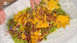Girasoli asparagi e fiori di zucca - E' sempre Mezzogiorno 24/0/2021 -  YouTube