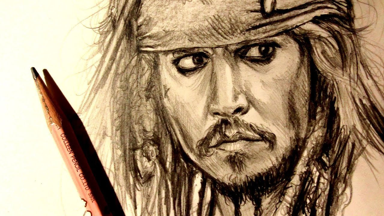 Asmr pencil drawing 116 captain jack sparrow request