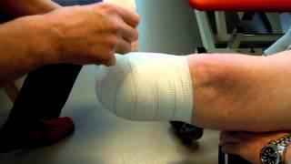 zwachtelen van stomp bij amputatie been onder de knie
