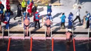 Заплыв - Чемпионат мира по зимнему плаванию Тюмень(Смотрим на видео заплыв знаменитых спортсменов,кто умеет плавать зимой,видео снято с моста влюбленных..., 2016-03-09T15:29:45.000Z)