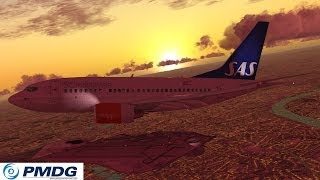 FSX PMDG 737 Flight from EDDL to ENGM [Start / ILS Landing]