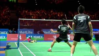 Badminton Highlights - Ahsan & Setiawan vs Endo & Hayakawa - All England 2014 MD Finals
