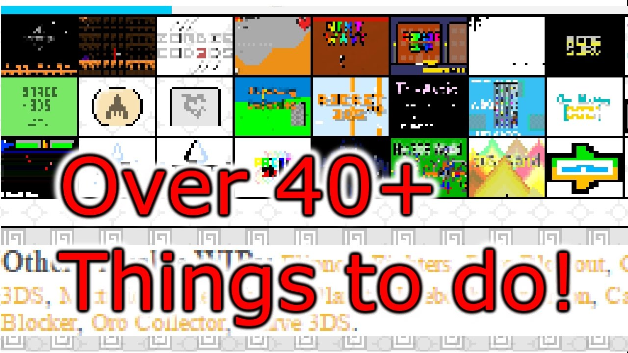 Over 40+! Things on My3DS org in 5 Minutes