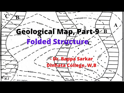 Geological Map Folded Structure //Practical Geography