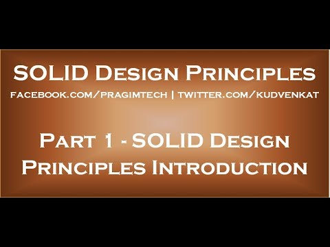 SOLID Design Principles Introduction