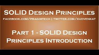 De SOLIDES Principes de Conception d'Introduction