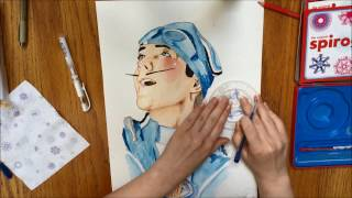 sportacus watercolor speedpaint