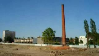 Wyburzanie komina metodą strzałową, Bydgoszcz