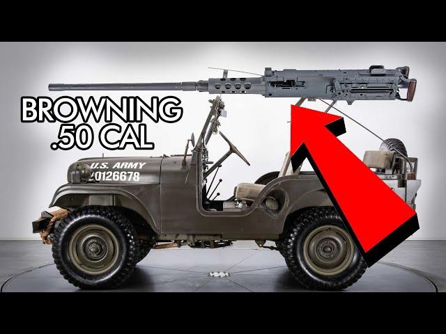 .50 BMG Machine Gun mounted to Jeep