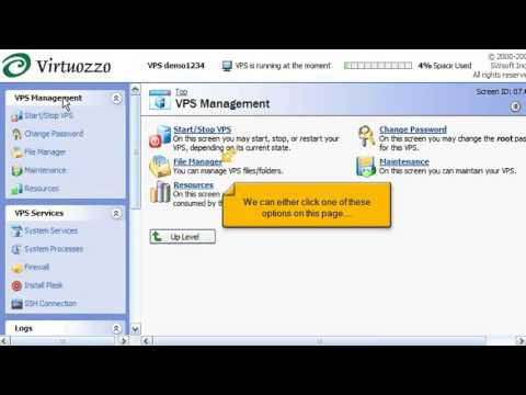 Virtuozzo Linux - Becoming familiar with Power Panel - YouTube