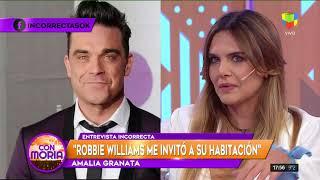 Amalia Granata Contó Con Lujo De Detalles Cómo Fue Su Encuentro Con Robbie Williams
