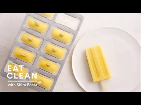 Dairy Free Mango Ice Pops Eat Clean with Shira Bocar