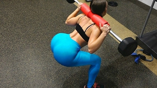Grow A Big BOOTY With Gym Equipment / Full Booty Workout Squat Sqonge Challange