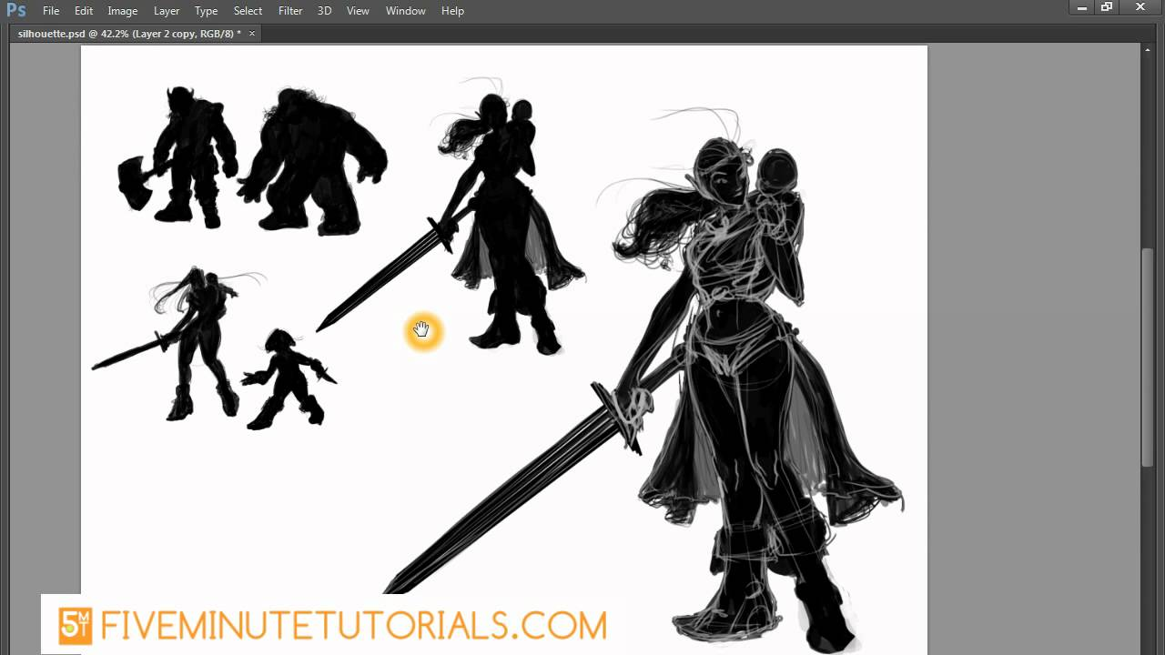 Character Design Silhouette Tutorial : Character design tutorial silhouette positive and