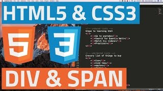 HTML5 and CSS3 beginner tutorial 19 - Divs and Spans