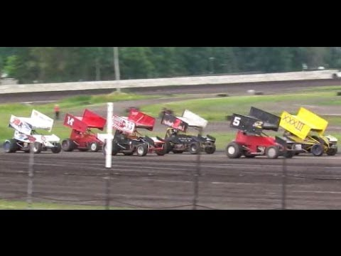 7-6-13 sprint cars at Arlington Raceway MN