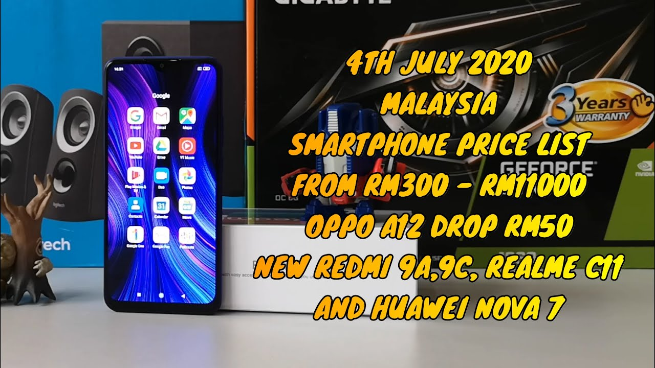 Smartphone Price List From Rm300 to Rm11000 Malaysia Set