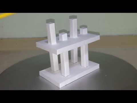 Optical illusion papercraft kit
